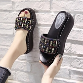 拖鞋女士外穿2021夏季新款時尚厚底百搭厚底楔形網紅涼拖超火ins潮鞋 蘇菲小店