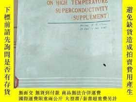 二手書博民逛書店proceedings罕見of the beijing international workshop on hig