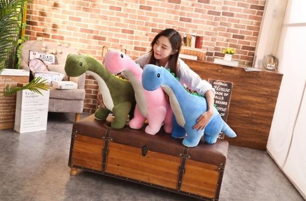 【35公分】長頸龍娃娃 恐龍抱枕玩偶 安撫睡覺玩具 生日禮物 兒童節 聖誕節交換禮物 兒童房布置