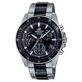 CASIO EDIFICE 經典賽車疾速大道不鏽鋼腕錶-黑面(EFV-540SBK-1A)