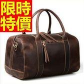 真皮行李袋-有型可肩背復古出遊男手提包1色59c21【巴黎精品】