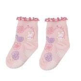 【愛的世界】小兔花園止滑透氣襪/7~13CM-台灣製- ★童鞋童襪