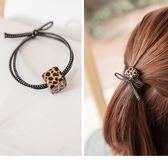 《ZC1270》潮流女孩方塊造型豹紋髮圈 OrangeBear