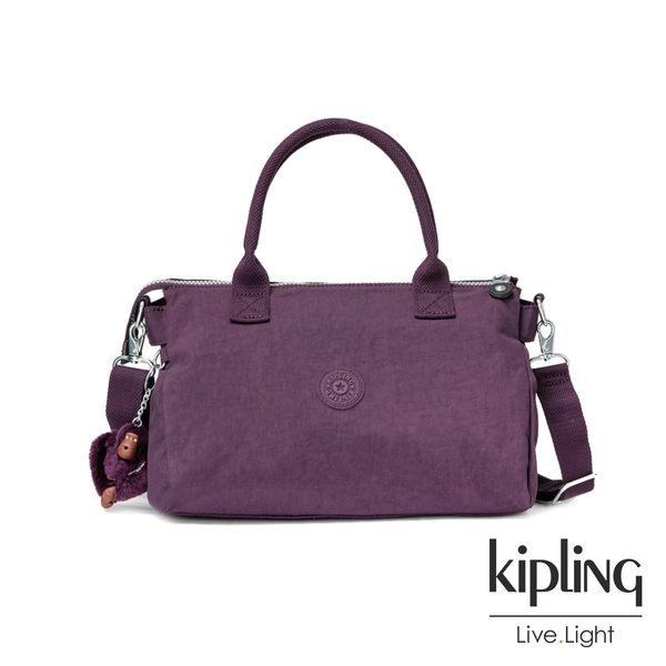 Kipling深紫素面公事手提包