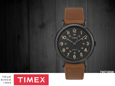 【時間道】TIMEX天美時 經典復刻腕錶– 黑面深棕皮(TW2T30500)免運費