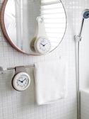 掛鐘北歐簡約浴室鐘廚房防水靜音家用吸盤鐘錶冰箱創意個性迷你小掛鐘多莉絲旗艦店