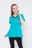【 BETTY des BETTY 】貝蒂春夏品牌服飾特賣~繡貝蒂圖口袋領口造型棉質上衣 NO.BS19215