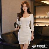 洋裝 春夏新款韓版時尚名媛氣質女神范顯瘦包臀連身裙打底裙1783
