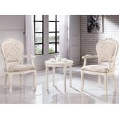 休閒桌椅 TV-247-1 格瑞絲白色房間椅組(一桌兩椅) 【大眾家居舘】