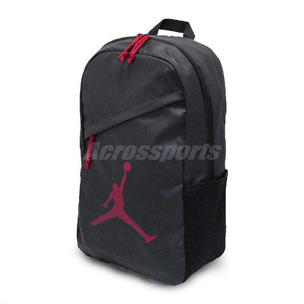 Nike 後背包 Jordan Flight Backpack 黑 紅 男女款 雙肩背 【PUMP306】 9A1910-KR5
