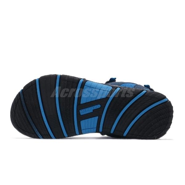 Merrell 涼拖鞋 Panther Sandal 2.0 藍 灰 大童鞋 中童鞋 女鞋 休閒鞋 魔鬼氈 涼鞋 【ACS】 MK262993