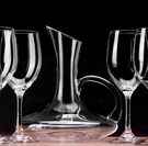 酒杯 紅酒杯套裝家用歐式高腳杯創意葡萄酒杯醒酒器2支6支無鉛水晶玻璃【快速出貨八折鉅惠】