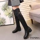 PAPORA經典騎士風膝上靴KYK016黑