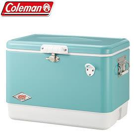 【偉盟公司貨】【65折】丹大戶外【Coleman】51L美國藍經典鋼甲冰箱/冰桶置物箱CM-03739