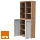 組 -特力屋萊特 組合式書櫃 淺木櫃/淺木層板8入/白色門2入 78x30x174.2cm