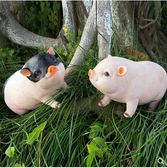仿真豬 花園林客廳可愛家居庭院裝飾生日禮物仿真樹脂小豬擺件工藝品創意 傾城小鋪