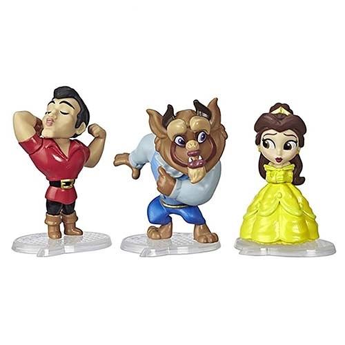 《 Disney 迪士尼 》迪士尼公主漫畫系列3入人物組 - 美女與野獸╭★ JOYBUS玩具百貨
