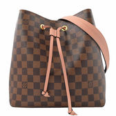Louis Vuitton LV N40198 Neonoe 棋盤格紋肩斜兩用水桶包.粉紅 全新 現貨【茱麗葉精品】