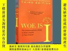 二手書博民逛書店英文原版工具書罕見Woe Is I 簡明英語語法指南Y33573