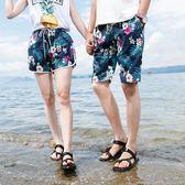 泳褲夏威夷情侶沙灘褲男寬鬆海邊度假大碼花短褲女五分速乾泳褲大褲衩 曼莎時尚