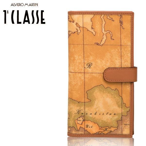 【橘子包包館】Alviero Martini 義大利地圖包 15C-W014-6000 扣式長夾