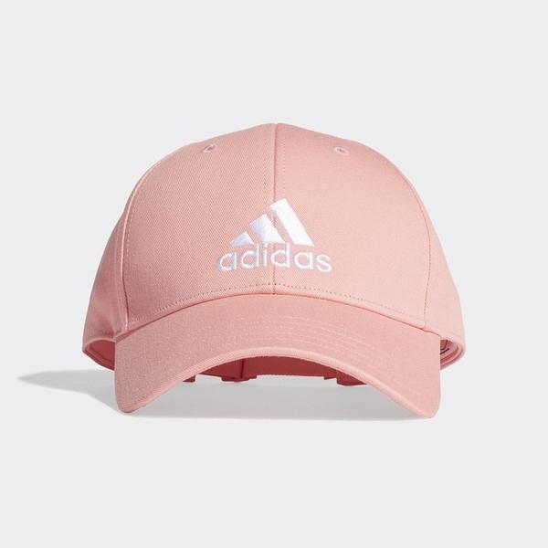 Adidas Bball Cap Cot [FK0893] 男女 老帽 鴨舌帽 棒球帽 六分割 經典款 防曬 粉紅