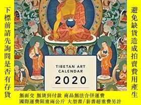 二手書博民逛書店Tibetan罕見Art Calendar 2020Y32650