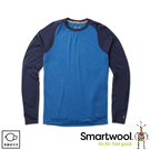 【SmartWool 美國 男 NTS 250長袖衫《鈷深藍/海軍藍》】SW0NP600/保暖長袖/內層/衛生衣