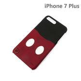 【日本正版迪士尼】iPhone6/6s/ 7 Plus 皮革口袋系列 手機殼 插卡 5.5吋-米奇445