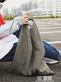單肩包 復古文藝男慵懶風帆布手提袋簡約環保袋斜跨韓版布袋 3C優購