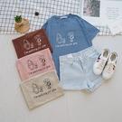 洋芋妹-正韓膠印維尼和史努比圖案柔膚短袖上衣 4色【SA545883】