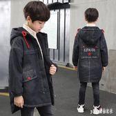 中大尺碼外套 大童冬裝加絨外套8兒童10韓版冬天加厚風衣12小學生13男孩 js17534『Pink領袖衣社』