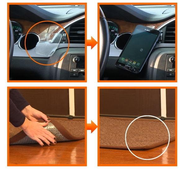 Gripeez 萬用強力無痕膠貼 防滑牆壁貼 固定手機鑰匙 重複使用壁面貼 一盒10入