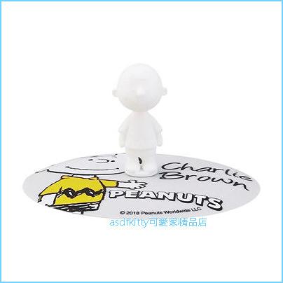 asdfkitty可愛家☆SNOOPY史努比查理布朗造型灰色矽膠杯蓋/碗蓋-保溫防塵保冰-日本正版商品