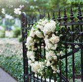韓式仿真花環門飾門挂結婚婚慶商場婚禮布置婚車家居裝飾假花花  限時八八折