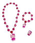 【卡漫城】 Hello Kitty 兒童飾品 三件組 花朵全身 ㊣版 玩具  扮家家酒 手鍊 戒指 項鍊 項鏈 手環