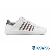 【K-SWISS】Pershing Court Light SE休閒運動鞋-女-白/黑/紅(96318-116)