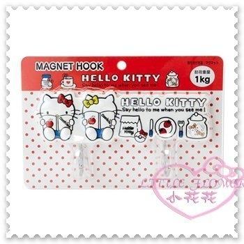 小花花日本精品Hello Kitty 廚房用造型掛勾磁鐵掛勾吸鐵是掛勾看書杯子蛋糕日本限定 57035109