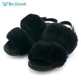 ★新品上市★【Bo Derek】絨毛涼鞋-黑