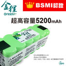 BSMI認證 iRobot Roomba 掃地機器人 SCOOBA 450 專用-高容量動力鋰電池《5200mAh》全球前三大電池芯