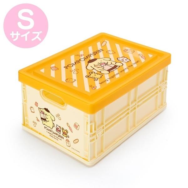 小禮堂 布丁狗 透明蓋折疊收納箱 塑膠收納箱 拿蓋收納箱 玩具箱 雜物箱 (S 黃 斜紋) 4550337-22215