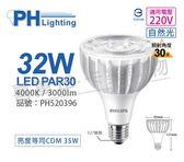 PHILIPS飛利浦 LED PAR30 32W 4000K 自然光 30度 220V E27 燈泡 _ PH520396