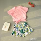 女童泳衣 小童分體公主裙式寶寶泳衣2-3歲6女孩可愛游泳裝【快速出貨】