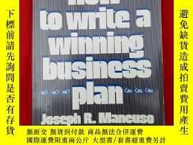 二手書博民逛書店HOW罕見TO WRITE A WINNING BUSINESS PLANY179070 PRESS PRES