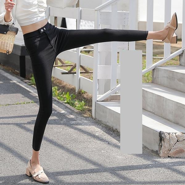 G076# 打底褲女魔術褲外穿高腰顯瘦黑色緊身小腳九分褲內搭褲牛仔 &小咪的店&