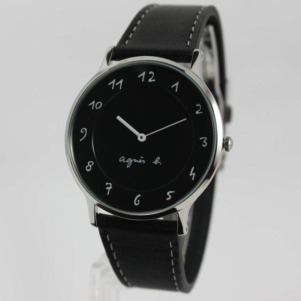 【萬年鐘錶】agnes b. 法式簡約時尚風 腕錶 銀x黑  39mm  VJ20-K240Z(BJ5005X1)