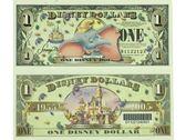 【台灣大洋金幣】2005年版 美國迪士尼1美元小飛象紀念鈔