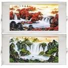 國畫山水畫風水靠山客廳裝飾畫捲軸掛畫字畫...