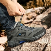 登山鞋男戶外鞋秋冬季加絨保暖棉鞋輕便防滑耐磨徒步鞋男士運動鞋