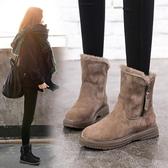 冬季馬丁靴女新款英倫